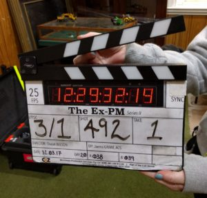The Ex-PM clapper board