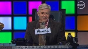 Stuart the Meerkat says 'Wrong'